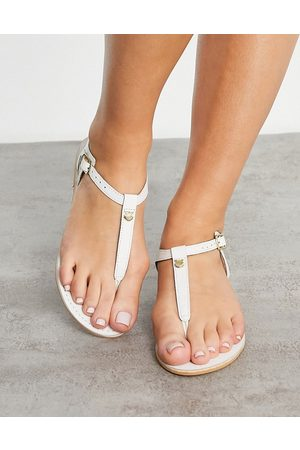 Accessorize T-bar sandal in white leather