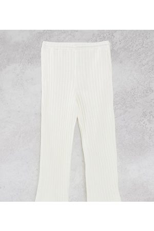 Collusion Unisex chunky jersey knit wide-legged trackies in ecru co-ord-White