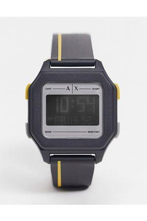 Armani Men's shell digital watch AX2957-Black