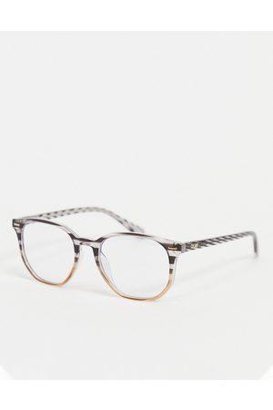Quay Australia Quay CTRL womens round blue light glasses in stripy tort-Brown