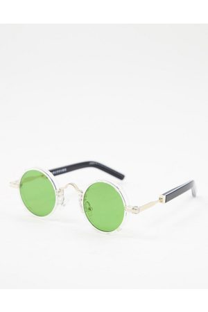 Spitfire Euph 2 unisex round sunglasses in clear with green lens