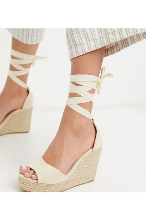 Glamorous Wide Fit Women Wedges - Wedge espadrille sandals in natural-Neutral