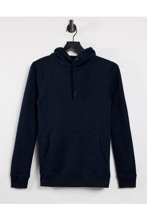 Burton Menswear Muscle fit hoodie in navy