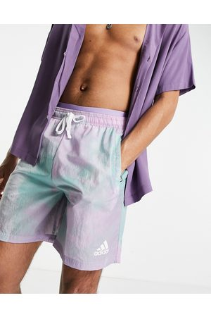 adidas Adidas tie-dye shorts in green and purple