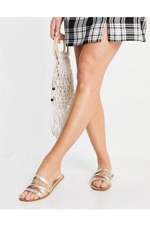 Accessorize Multi-strap sandals in gold leather