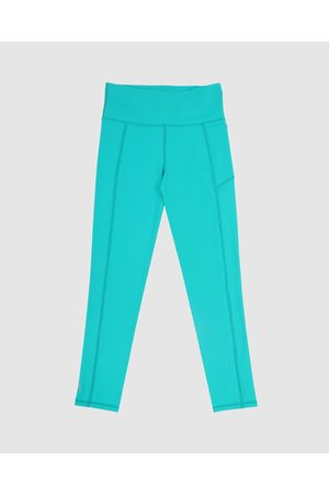 School Active Sports Girls Sports Leggings - SAS Active Fearless Flex Long Leggings - Full Tights (Teal) SAS Active Fearless-Flex Long Leggings