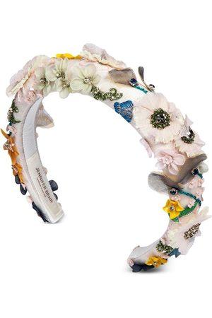 Jennifer Behr Meadow floral-appliqué headband