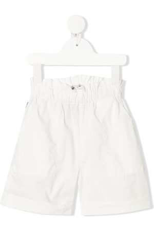 Woolrich Kids Boys Shorts - Elasticated-waist flared shorts