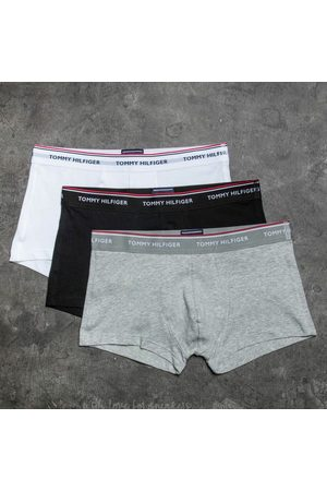 Tommy Hilfiger 3 Pack Low Rise Trunks / White/ Grey Heather