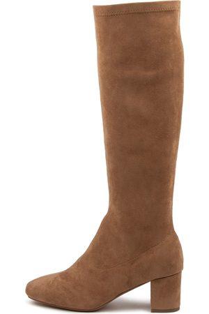 DIANA FERRARI Women Knee High Boots - Irossi Df Sand Boots Womens Shoes Casual Long Boots