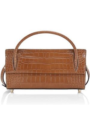 Christian Louboutin Paloma Croc-Embossed Leather Baguette