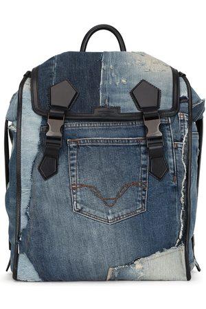 Dolce & Gabbana Men Backpacks - Patchwork-design denim backpack