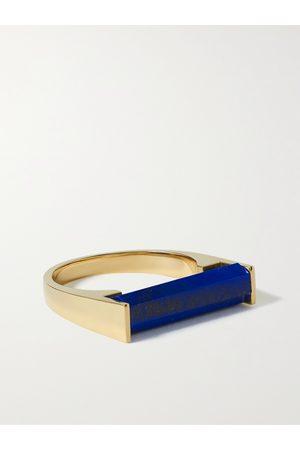 LUIS MORAIS Men Rings - 14-Karat Gold and Lapis Lazuli Ring