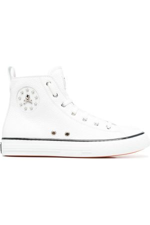 Philipp Plein Women Sneakers - Leather hi-top sneakers