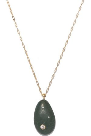 CVC STONES Women Necklaces - Pistachio Diamond & 18kt Gold Necklace - Womens