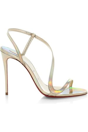 Christian Louboutin Mules - Rosalie 100 Iridescent Leather Slingback Sandals