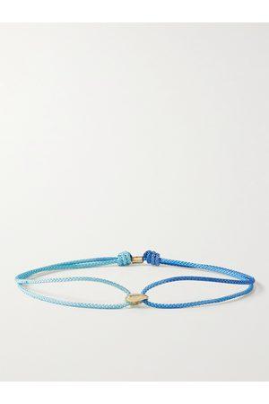LUIS MORAIS Men Bracelets - 14-Karat Gold and Cord Bracelet