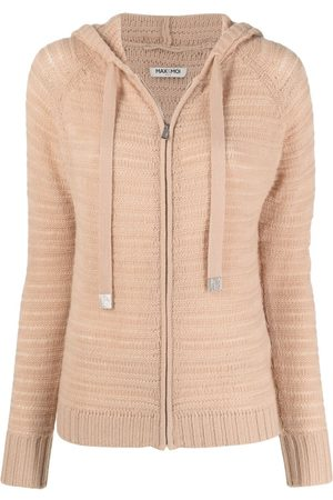 Max & Moi Ribbed-knit cashmere hoodie