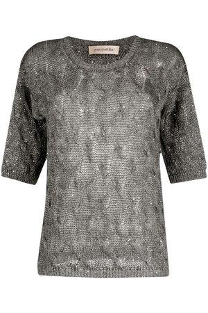 GENTRYPORTOFINO Women Tops - Open knit short-sleeved top