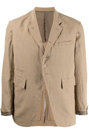 UNDERCOVER Button-front linen blazer
