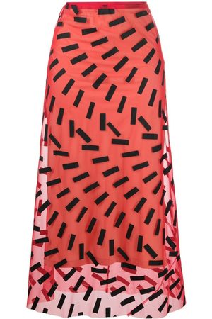 Maison Margiela Graphic-print mid-length skirt