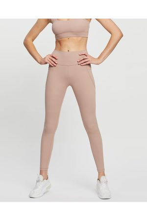 All Fenix Women Sports Leggings - All Core 7 8 Pocket Leggings - 7/8 Tights (Taupe) All Core 7-8 Pocket Leggings