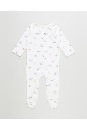 Bebe By Minihaha Baby Rompers - Safari Organic Long Sleeve Romper Babies - Longsleeve Rompers (Safari) Safari Organic Long Sleeve Romper - Babies