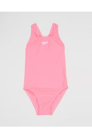 Speedo Girls Swimsuits - Essential Medalist One Piece Kids - One-Piece / Swimsuit (Blossom) Essential Medalist One Piece - Kids