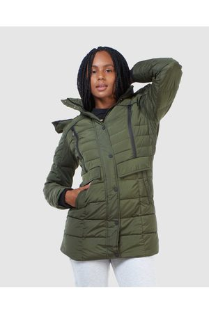 Superdry Women Parkas - Longline Glacier Parka Coat - Coats & Jackets (Dark Moss) Longline Glacier Parka Coat