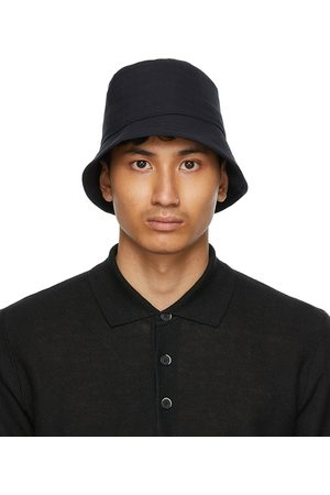 Men Hats - Barena Navy Ostro Bucket Hat