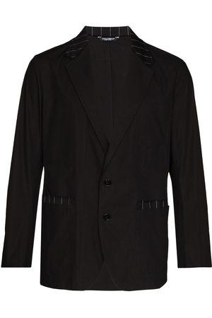 Dolce & Gabbana Stripe-trim single-breasted blazer