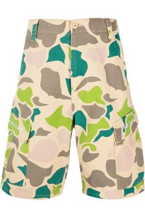 Billionaire Boys Club Men Shorts - Camouflage-print cargo shorts