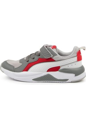 PUMA 372921 X Ray V Ps Jnr Pm Gray Violet Sneakers Boys Shoes School Casual Sneakers