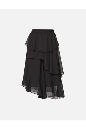 Evisu Asymmetric Layered Skirt