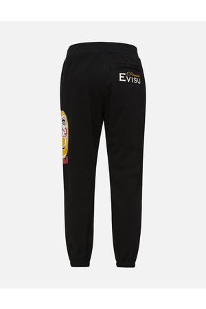 Evisu Men Joggers - Double-face Daruma Print Sweatpants
