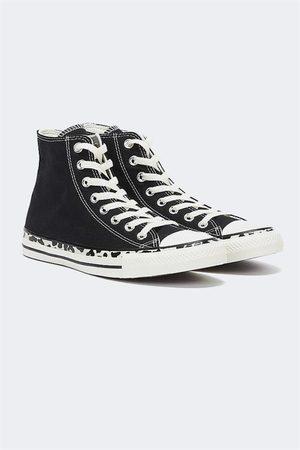 Converse Women Sneakers - Chuck Taylor Leopard Print High Top Blk