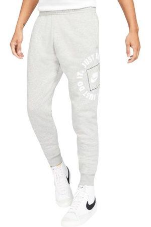 Nike Men Joggers - Just Do It Fleece Mens Track Pants - Dark /Heather/Iron