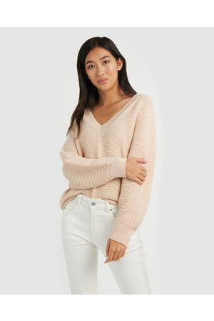 Forcast Krisha Chunky Wool Blend Knit - Jumpers & Cardigans (Blush) Krisha Chunky Wool-Blend Knit