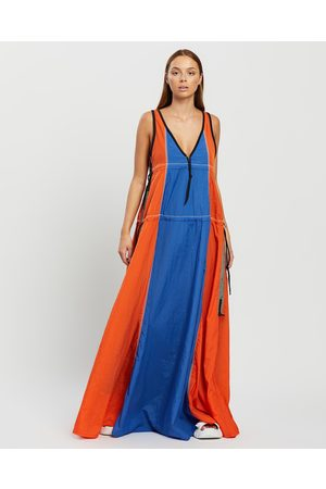 Onitsuka Tiger Women Maxi Dresses - Dress Women's - Dresses (Fiery ) Dress - Women's
