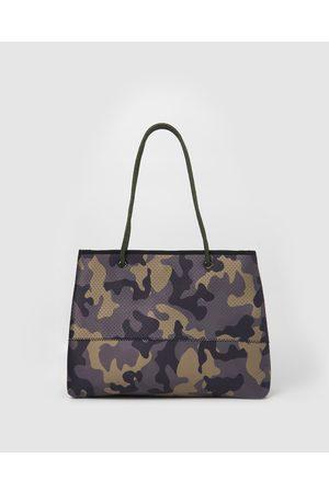 Miz Casa and Co Women Tote Bags - Ivy Neoprene Tote Bag - Bags (Khaki) Ivy Neoprene Tote Bag