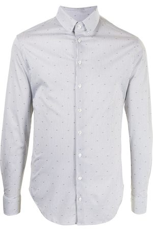 Giorgio Armani Monogram print cotton shirt