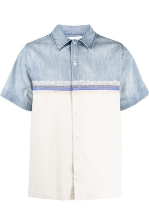 Koché Lace-detail two-tone shirt