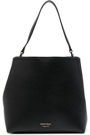 Emporio Armani Women Shoulder Bags - Logo-debossed shoulder bag