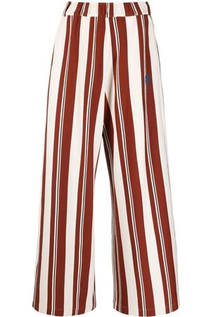 Opening Ceremony Women Formal Pants - Vertical-stripe high-waisted trousers