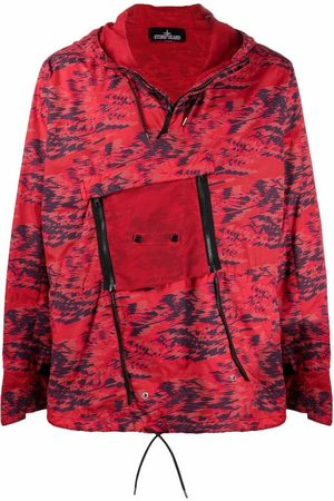 STONE ISLAND SHADOW PROJECT Abstract print hooded jacket