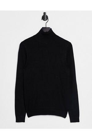 River Island Roll-neck jumper in black