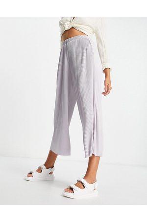 ASOS Plisse culotte pants in lavender blue