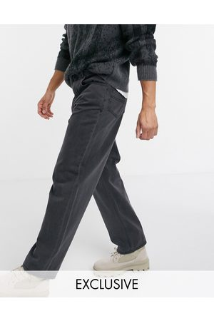 Reclaimed Vintage Inspired 90s baggy jeans in washed black