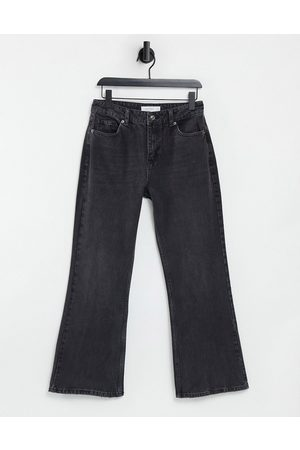 Topshop Two 90s flare jeans in washed black