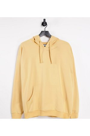 Reclaimed Vintage Inspired organic cotton unisex hoodie in washed sand co-ord-Yellow